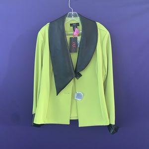 Midnight Velvet Lime Green Suit with Skirt